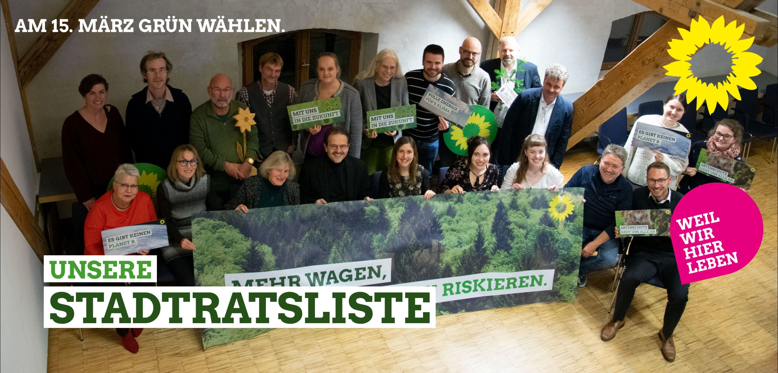 Unsere Stadtratsliste GRÜNE Fürstenfeldbruck
